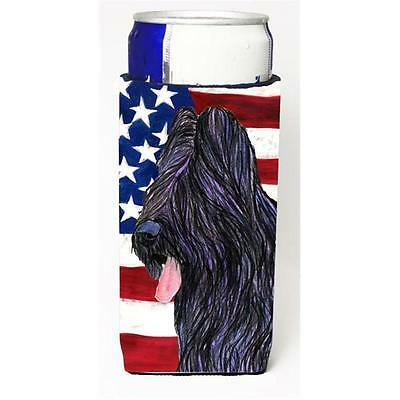 Usa American Flag With Briard Michelob Ultra bottle sleeve for Slim Can
