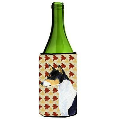Carolines Treasures Basenji Fall Leaves Portrait Wine Bottle Hugger 24 oz.