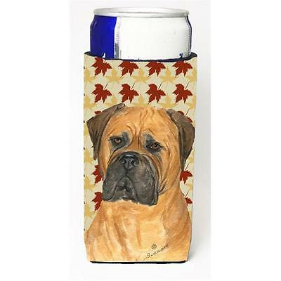 Bullmastiff Fall Leaves Portrait Michelob Ultra s For Slim Cans 12 oz.