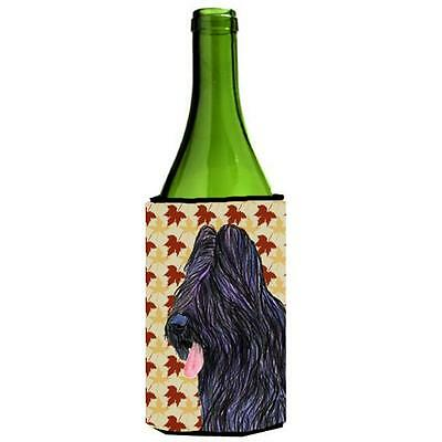 Carolines Treasures Briard Fall Leaves Portrait Wine bottle sleeve Hugger