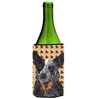 Carolines Treasures Australian Cattle Dog Fall Leaves Wine bottle sleeve Hugger