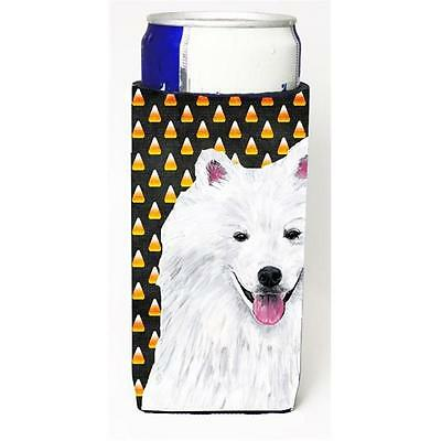 American Eskimo Candy Corn Halloween Portrait Michelob Ultra s for slim cans