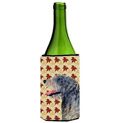 Irish Wolfhound Fall Leaves Portrait Wine bottle sleeve Hugger 24 oz.