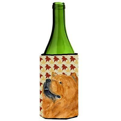 Chow Chow Fall Leaves Portrait Wine bottle sleeve Hugger 24 oz.