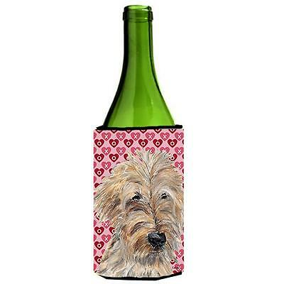 Goldendoodle Valentines Love Wine bottle sleeve Hugger 24 oz.