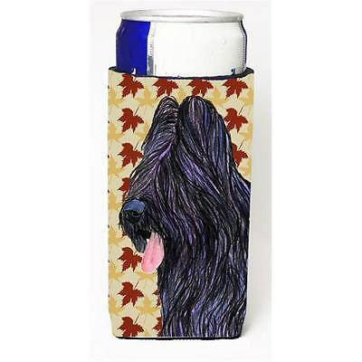 Briard Fall Leaves Portrait Michelob Ultra bottle sleeve for Slim Can