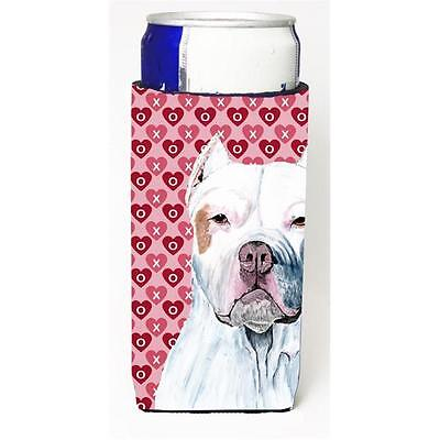 Pit Bull Hearts Love And Valentines Day Portrait Michelob Ultra bottle sleeve...