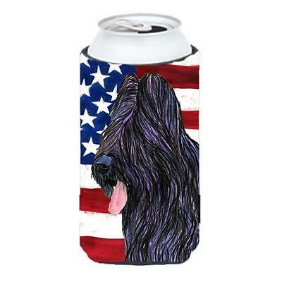Carolines Treasures Usa American Flag With Briard Tall Boy bottle sleeve Hugger