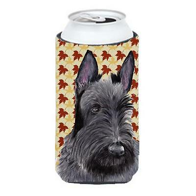 Scottish Terrier Fall Leaves Portrait Tall Boy bottle sleeve Hugger 22 To 24 oz.