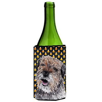 Border Terrier Halloween Candy Corn Wine bottle sleeve Hugger