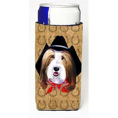 Bearded Collie Dog Country Lucky Horseshoe Michelob Ultra bottle sleeves For ...