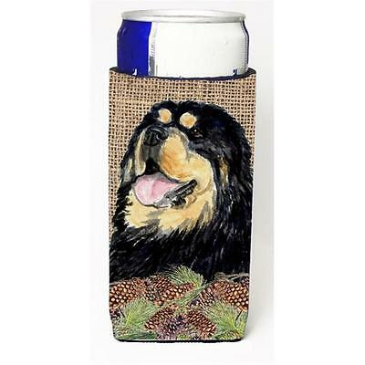 Tibetan Mastiff On Faux Burlap With Pine Cones Michelob Ultra bottle sleeves ...