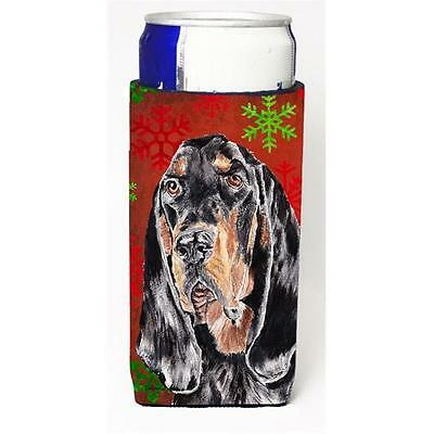 Coonhound Red Snowflake Christmas Michelob Ultra bottle sleeves For Slim Cans...