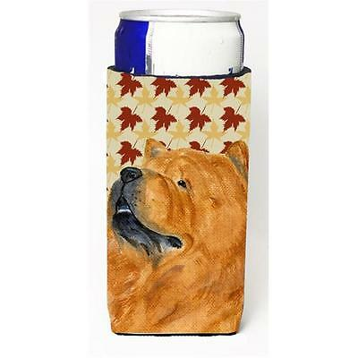 Chow Chow Fall Leaves Portrait Michelob Ultra bottle sleeves For Slim Cans 12...