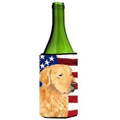 Carolines Treasures Usa American Flag Golden Retriever Wine Bottle Hugger 24 oz.