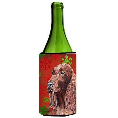 Irish Setter Red Snowflake Christmas Wine bottle sleeve Hugger 24 oz.