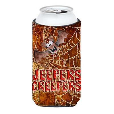 Jeepers Creepers With Bat And Spider Web Halloween Tall Boy bottle sleeve Hug...
