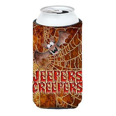 Jeepers Creepers With Bat And Spider Web Halloween Tall Boy bottle sleeve Hug... • AUD 47.47