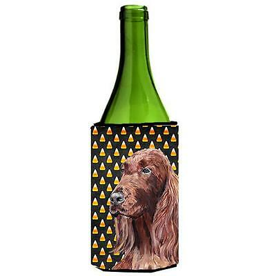 Irish Setter Halloween Candy Corn Wine bottle sleeve Hugger 24 oz.