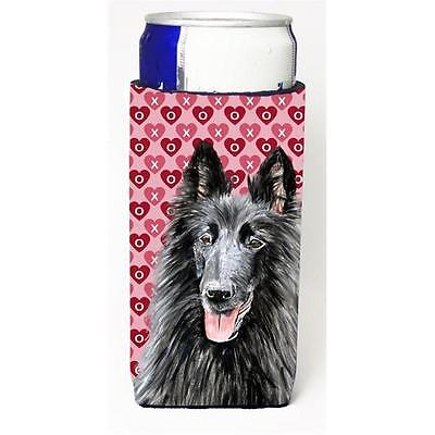 Belgian Sheepdog Hearts Love and Valentines Day Portrait Michelob Ultra bottl...