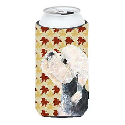 Dandie Dinmont Terrier Fall Leaves Portrait Tall Boy bottle sleeve Hugger 22 ...