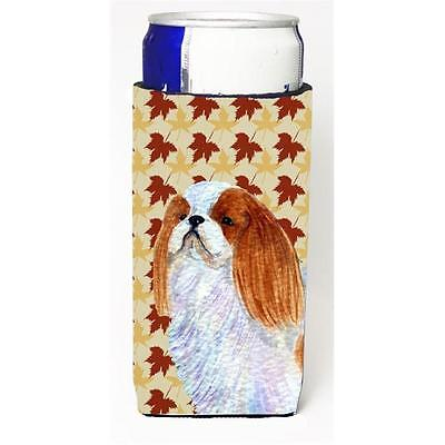 English Toy Spaniel Fall Leaves Portrait Michelob Ultra bottle sleeves For Sl...