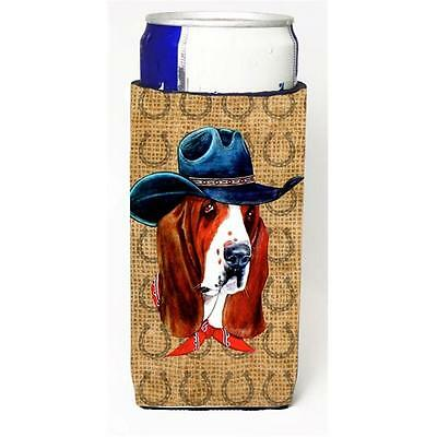 Basset Hound Dog Country Lucky Horseshoe Michelob Ultra bottle sleeves For Sl...
