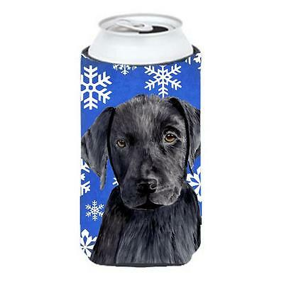Labrador Winter Snowflakes Holiday Tall Boy bottle sleeve Hugger 22 To 24 oz.