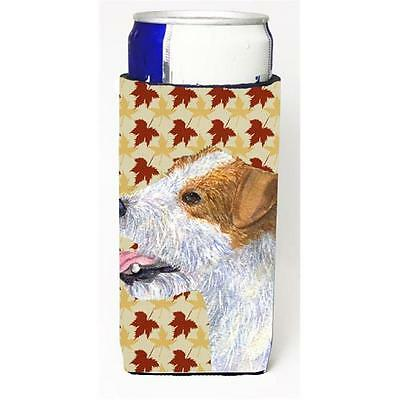 Jack Russell Terrier Fall Leaves Portrait Michelob Ultra bottle sleeves For S...