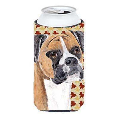 Boxer Fall Leaves Portrait Tall Boy bottle sleeve Hugger 22 To 24 oz.