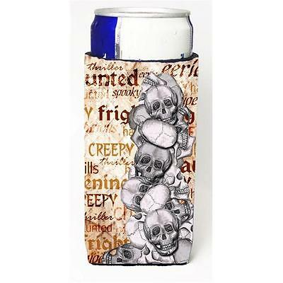 Creepy Haunted And Frightful With Skulls Halloween Michelob Ultra bottle slee...