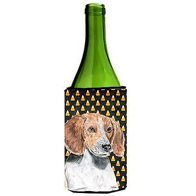English Foxhound Halloween Candy Corn Wine bottle sleeve Hugger
