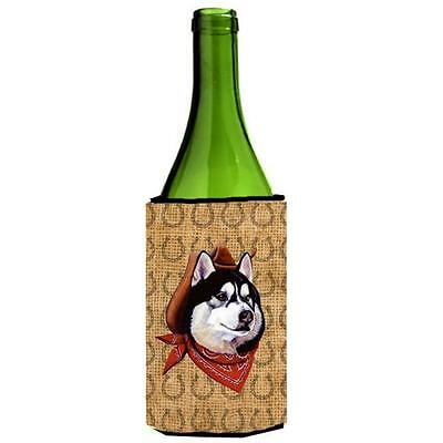 Siberian Husky Dog Country Lucky Horseshoe Wine bottle sleeve Hugger 24 oz.