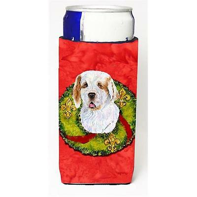 Clumber Spaniel Christmas Wreath Michelob Ultra bottle sleeves For Slim Cans ...
