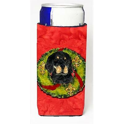 Gordon Setter Cristmas Wreath Michelob Ultra bottle sleeves For Slim Cans