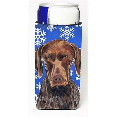 German Shorthaired Pointer Winter Snowflakes Holiday Michelob Ultra bottle sl...