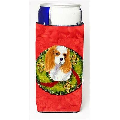 Cavalier Spaniel Cristmas Wreath Michelob Ultra bottle sleeves For Slim Cans