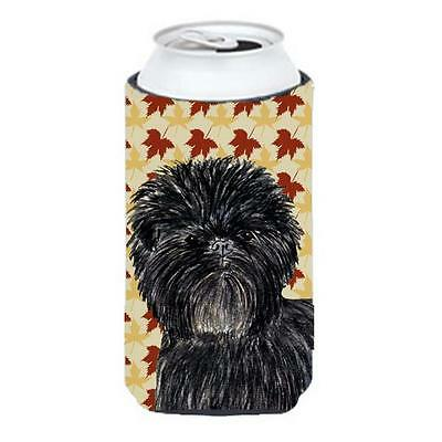Affenpinscher Fall Leaves Portrait Tall Boy bottle sleeve Hugger 22 To 24 oz.