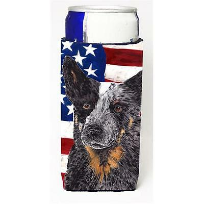 USA American Flag with Australian Cattle Dog Michelob Ultra s for slim cans