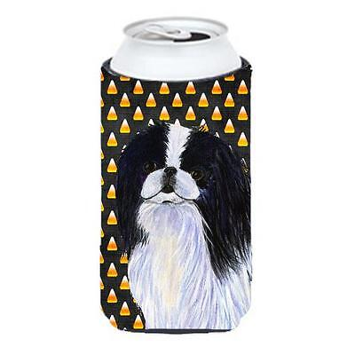 Japanese Chin Candy Corn Halloween Portrait Tall Boy bottle sleeve Hugger 22 ...