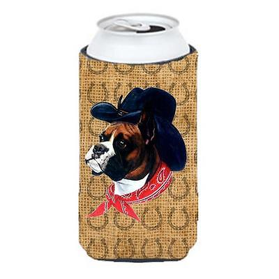 Boxer Dog Country Lucky Horseshoe Tall Boy bottle sleeve Hugger 22 To 24 oz.