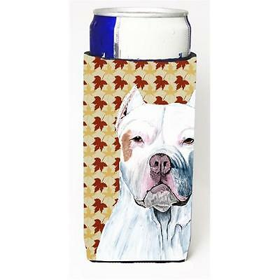 Pit Bull Fall Leaves Portrait Michelob Ultra s For Slim Cans 12 oz.