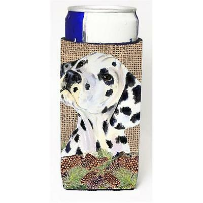 Dalmatian on Faux Burlap with Pine Cones Michelob Ultra bottle sleeves for sl...