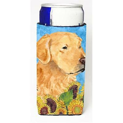Golden Retriever In Summer Flowers Michelob Ultra bottle sleeves For Slim Can...