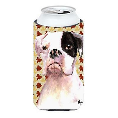 Cooper Fall Leaves Boxer Tall Boy bottle sleeve Hugger 22 to 24 oz.