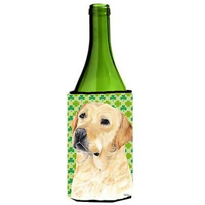 Labrador Yellow St. Patricks Day Shamrock Portrait Wine bottle sleeve Hugger ...