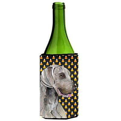 Carolines Treasures Weimaraner Candy Corn Halloween Portrait Wine Bottle Hugger