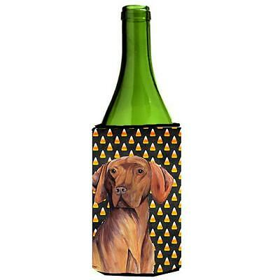 Carolines Treasures Vizsla Candy Corn Halloween Portrait Wine Bottle Hugger