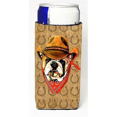 Bulldog English Dog Country Lucky Horseshoe Michelob Ultra bottle sleeves For...