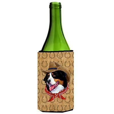 Bernese Mountain Dog Dog Country Lucky Horseshoe Wine bottle sleeve Hugger 24...